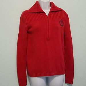 Tommy Hilfiger Size M Pullover Red Knit Sweater